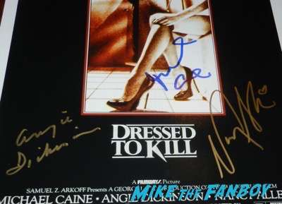 dressed to kill signed autograph poster nancy allen michael caine angie dickinson