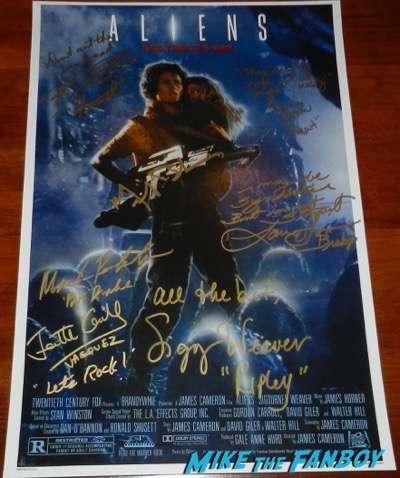 jenette-goldstein signed autograph aliens poster sigourney weaver psa