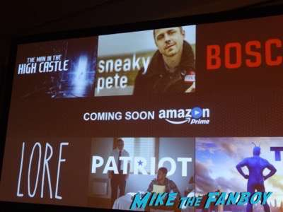 Amazon's new shows! Sneaky Pete! Lore! NYCC