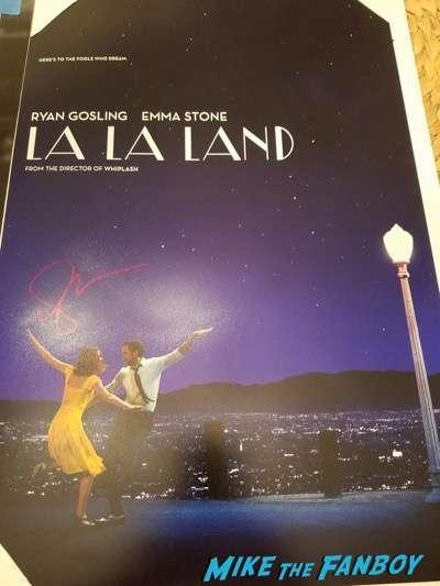 Emma Stone signed autograph la la land poster