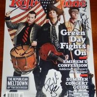 green day signed autograph rolling stone magazine tre col billie joe armstrong