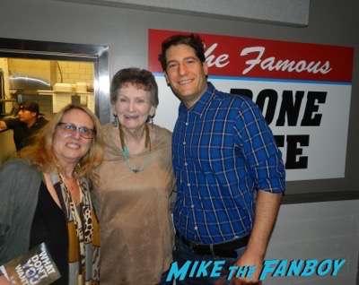 Margaret Bowman selfie meeting fans photo signing autographs