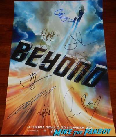 chris pine autograph signed star trek beyond rare