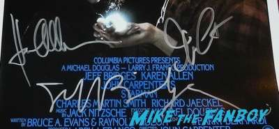 Jeff Bridges Karen Allen John Carpenter signed autograph starman poster