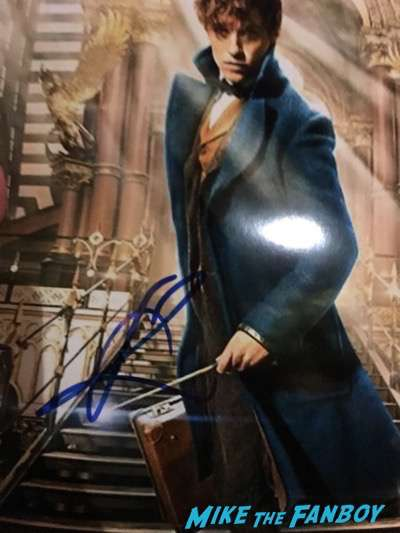 Eddie Redmayne signed autograph photo fantastic Beasts