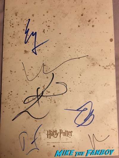 ezra miller signed autograph harry potter map