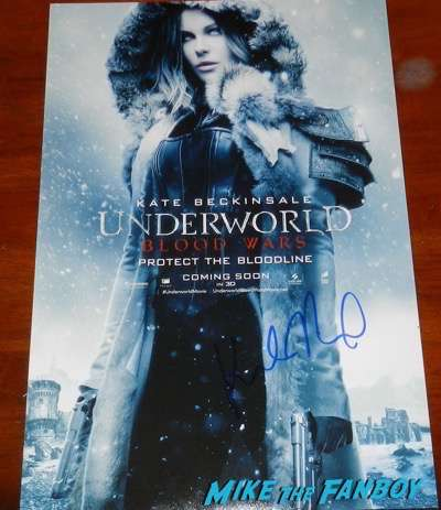 Kate Beckinsale signed autograph underworld awakening poster psa