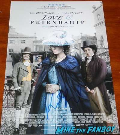 Kate Beckinsale signed autograph love and friendship poster PSA