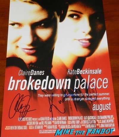 Kate Beckinsale Claire Danes Signed autograph brokedown palace poster
