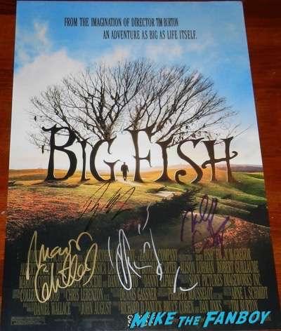 marion cotillard signed autograph Big Fish poster psa rare