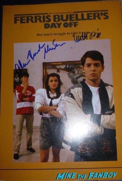 Matthew Broderick signed autograph ferris bueller program book japanese poster psa