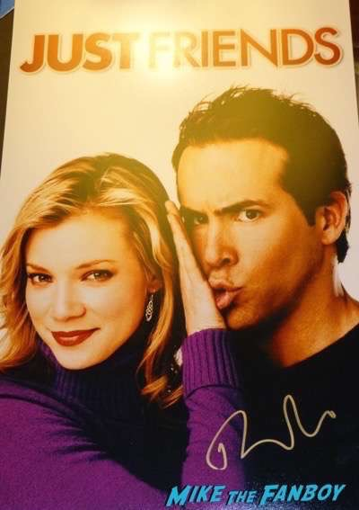 Ryan Reynolds signed autograph just friends poster rare