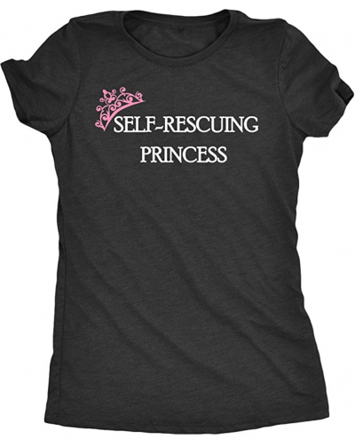 self rescuing princess shirt
