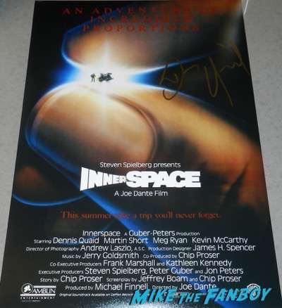 Dennis Quaid signed autograph innerspace poster