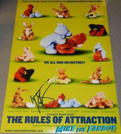KAte Bosworth signed autograph The rules of attraction poster