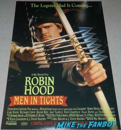 Carey Elwes signed autograph Robin hood Men in Tights poster