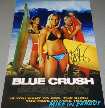 KAte Bosworth signed autograph Blue Crush poster