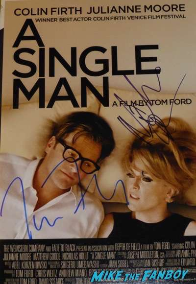 Tom Ford signed Autograph a single man poster PSA
