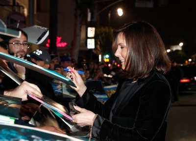 """HOLLYWOOD, CA - DECEMBER 10: Producer Kathleen Kennedy attends The World Premiere of Lucasfilm's highly anticipated, first-ever, standalone Star Wars adventure, """"Rogue One: A Star Wars Story"""" at the Pantages Theatre on December 10, 2016 in Hollywood, California.  (Photo by Rich Polk/Getty Images for Disney) *** Local Caption *** Kathleen Kennedy"""