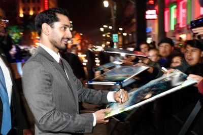 "HOLLYWOOD, CA - DECEMBER 10: Actor Riz Ahmed attends The World Premiere of Lucasfilm's highly anticipated, first-ever, standalone Star Wars adventure, ""Rogue One: A Star Wars Story"" at the Pantages Theatre on December 10, 2016 in Hollywood, California.  (Photo by Rich Polk/Getty Images for Disney) *** Local Caption *** Riz Ahmed"