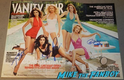 desperate housewives signed autograph vanity fair magazine cover