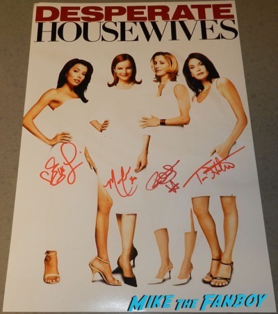 desperate housewives signed autograph poster