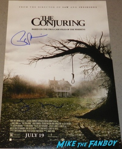 Lili Taylor signed autograph The Conjuring mini poster