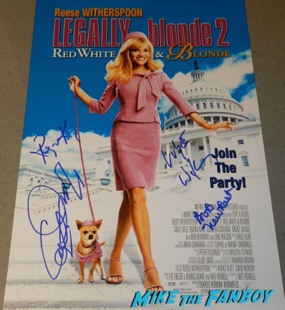 regina king signed autograph legally blonde 2 poster