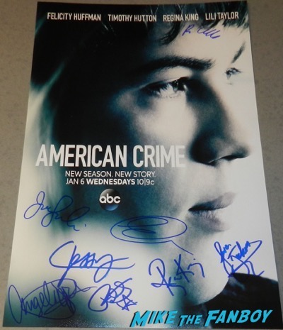 american crime season 2 poster signed autograph felicity huffman american crime season 2 poster signed autograph felicity huffman american crime season 2 poster signed autograph felicity huffman