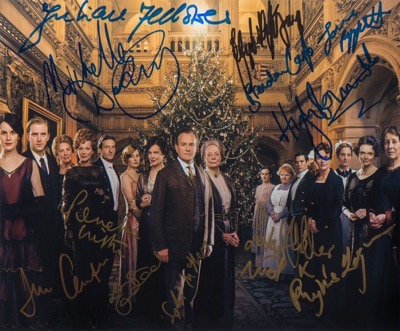 downton abbey cast_signed_photo