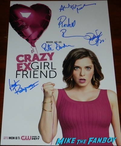 crazy ex girlfriend signed autograph poster season one rachel bloom rare psa