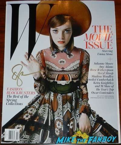 emma stone signed autograph W magazine