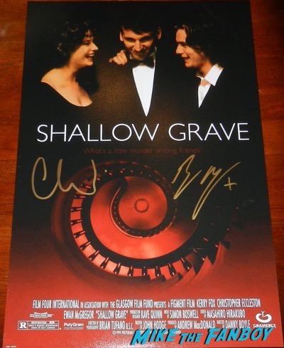 ewan mcgregor signed autograph shallow grave poster