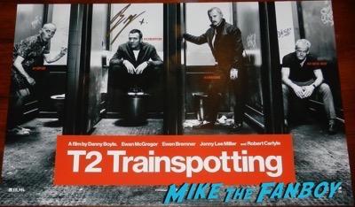 ewan mcgregor signed autograph T2 Trainspotting poster