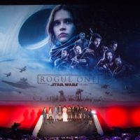 "Cast & filmmakers attend an exclusive screening of Lucasfilm's highly anticipated, first-ever, standalone Star Wars adventure, ""Rogue One: A Star Wars Story"" at the BFI IMAX on Tuesday December 13, 2016 in London, UK."