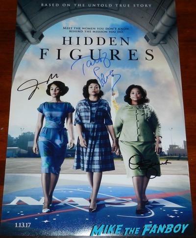 hidden figures cast signed autograph poster octavia spencer TARAJI P. HENSON JANELLE MONÁE