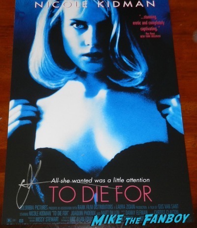 Nicole Kidman signed To Die For poster