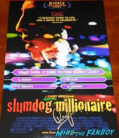 Dev Patel signed Slumdog Millionaire poster