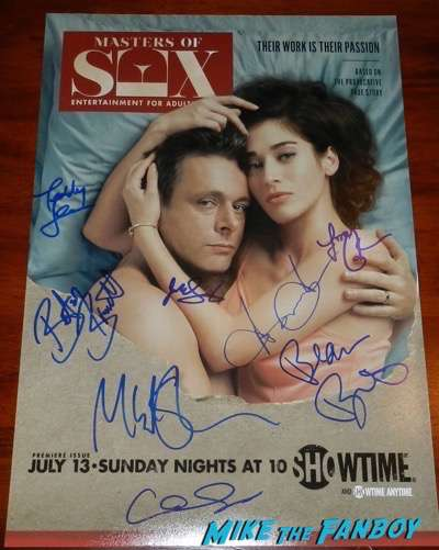 masters of sex season 3 promo poster signed michael sheen lizzy caplan