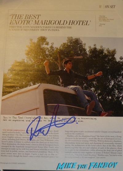 Dev Patel signed autograph PSA