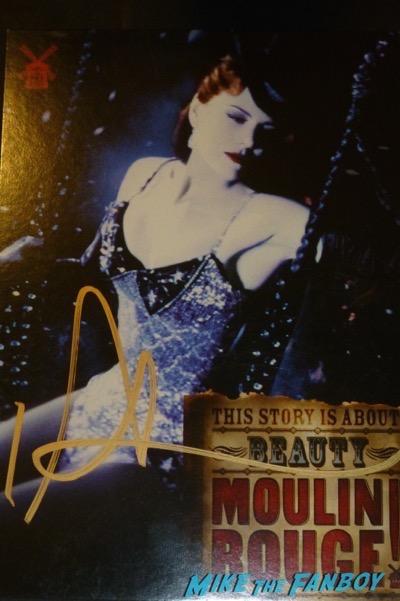 Nicole Kidman signed autograph moulin rouge poster psa