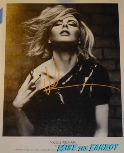 Nicole Kidman signed autograph photo psa