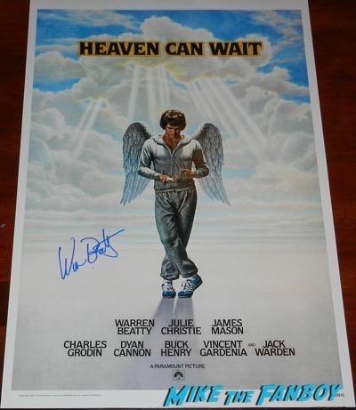 warren beatty signed autograph Heaven Can Wait poster PSA