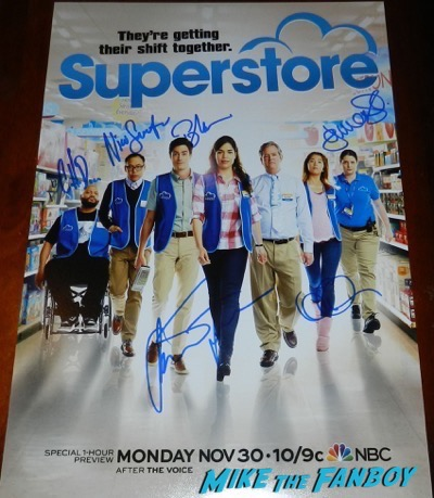 superstore season one poster signed autograph psa america ferrera