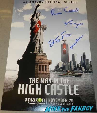 The man in the high castle signed season one poster Rufus Sewell Joel De La Fuente Alexa Davalos