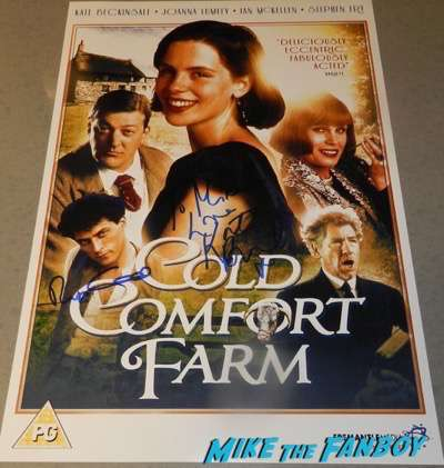 kate beckinsale rufus sewell signed autograph cold comfort farm poster