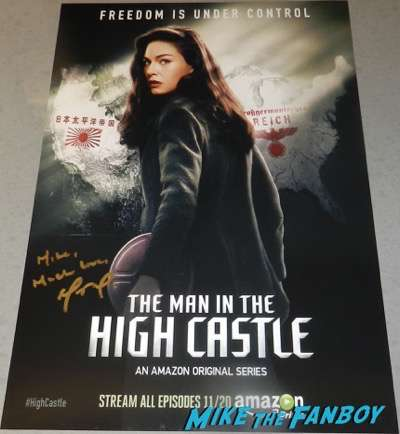 The man in the high castle signed season one poster Alexa Davalos