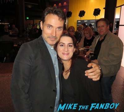 rufus sewell meeting fans selfie signing autographs