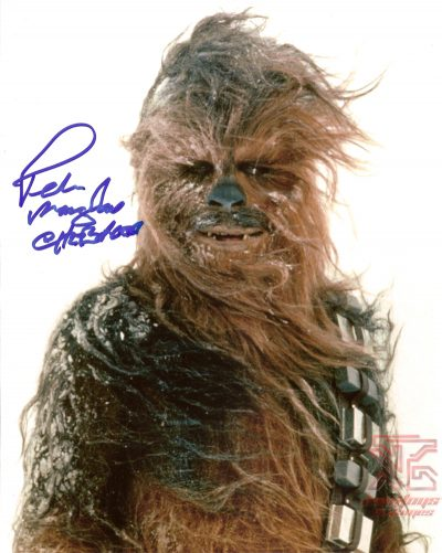Peter mayhew signed autograph star wars photo