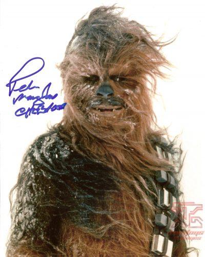 Peter mayhew signed autograph star wars photo